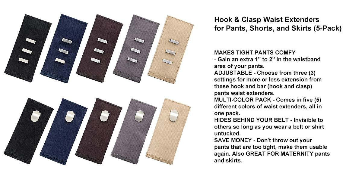 Hook & Clasp Waist Extenders for Pants, Shorts, and Skirts.jpg