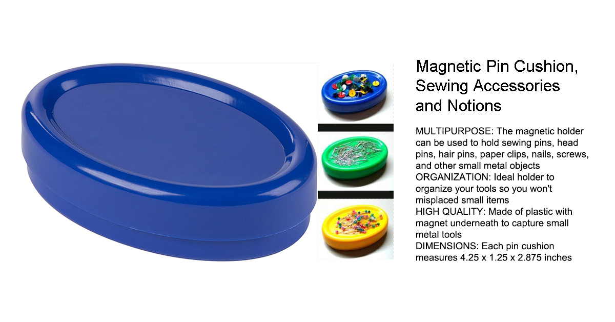 Juvale Magnetic Pin Cushion, Sewing Accessories and Notions (Blue, 2-Pack).jpg