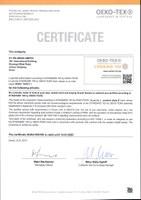 2019 Renewal of Oeko-Tex® certificate SHAO 095780