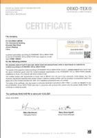 2020 Renewal of Oeko-Tex® certificate SHAO 095780