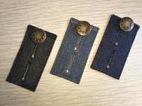 JEANS BUTTON EXTENDER WITH EYELET BUTTONHOLES